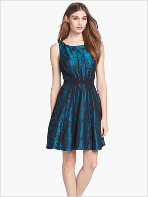 Shop the look: Jessica Simpson Floral & Mesh Fit and Flare Dress (nordstrom.com, $60)