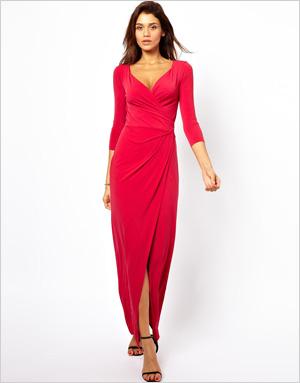 Shop the look: ASOS 3/4 Sleeve Wrap Maxi Dress (us.asos.com, $52)