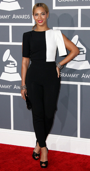 Beyonce at the 2013 Grammy Awards