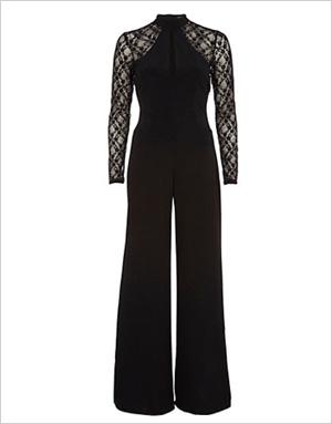 Shop the look: River Island Black Lace Jumpsuit (us.riverisland.com, $100)