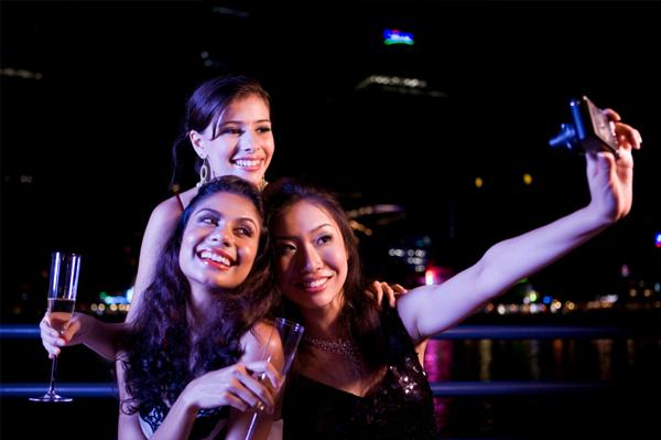 Women having cocktails