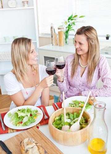 Friends having lunch
