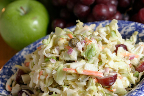 Fruit and cabbage slaw
