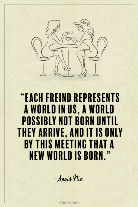 Anaïs Nin quote about friendship