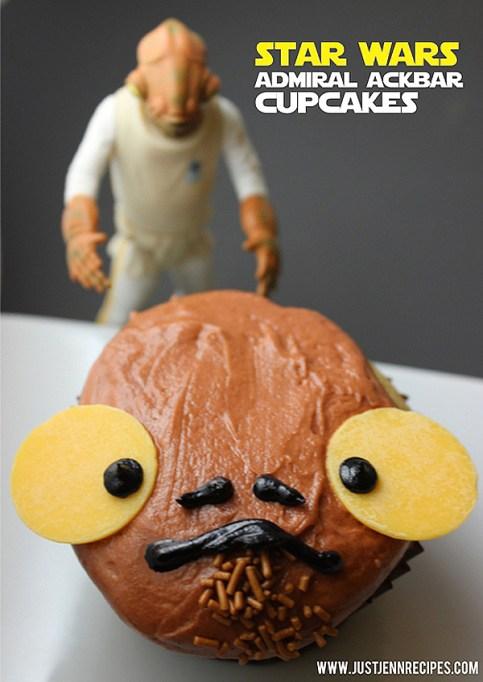 Star Wars Admiral Ackbar cupcakes