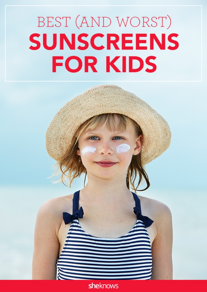 Best and worst sunscreens for kids Pinterest image