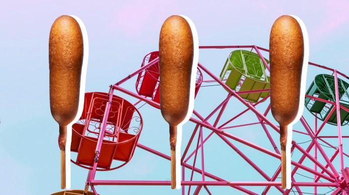 Ferris wheel in fun fair over