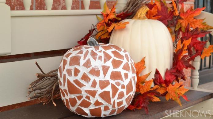 Skip the Jack-O-Lantern, these terra-cotta pumpkins