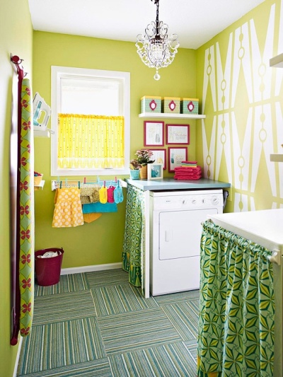 If Anyone Thinks That Laundry Isn T Fun This Lime Green Room Original Pin Source Begs To Differ Go Ahead Break The Rules