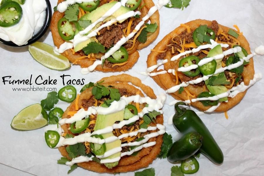 funnel cake tacos