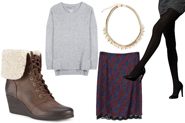 How to style furry boots for the work