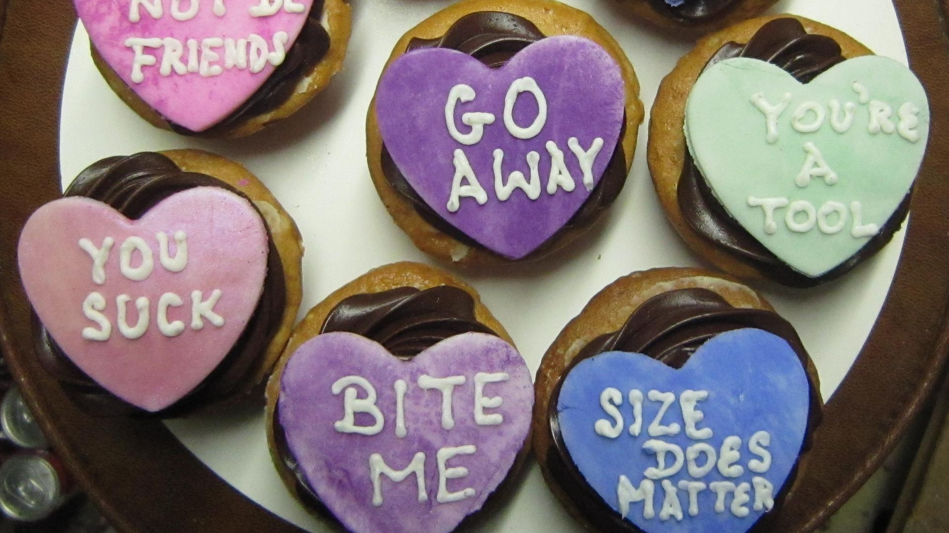 10 Most Awkward Valentines Day Conversation Hearts Ever Sheknows