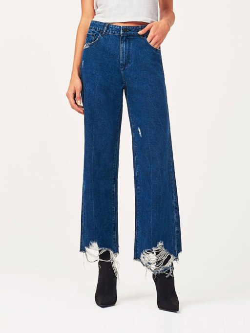 Modern Pieces For Every Woman's Work Wardrobe | Wide leg jeans