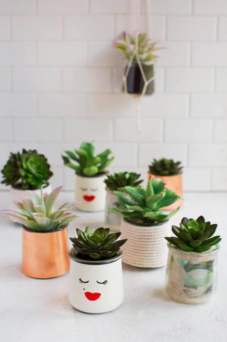 DIY Glass Planters from A Beautiful Mess