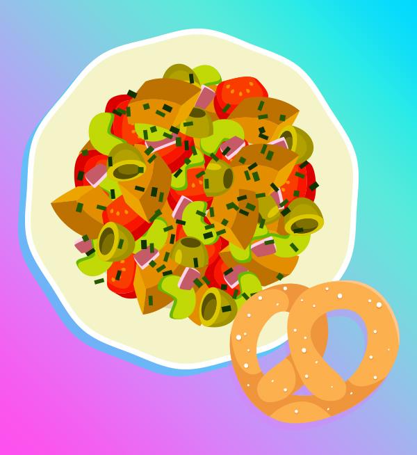 Soft pretzel pairings: Pretzels are surprisingly elegant when tossed with an Italian salad