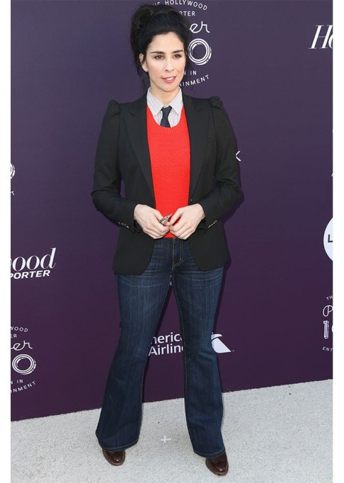Celebrities Who Wore Wide Leg Jeans and Looked Damn Good | Sarah Silverman