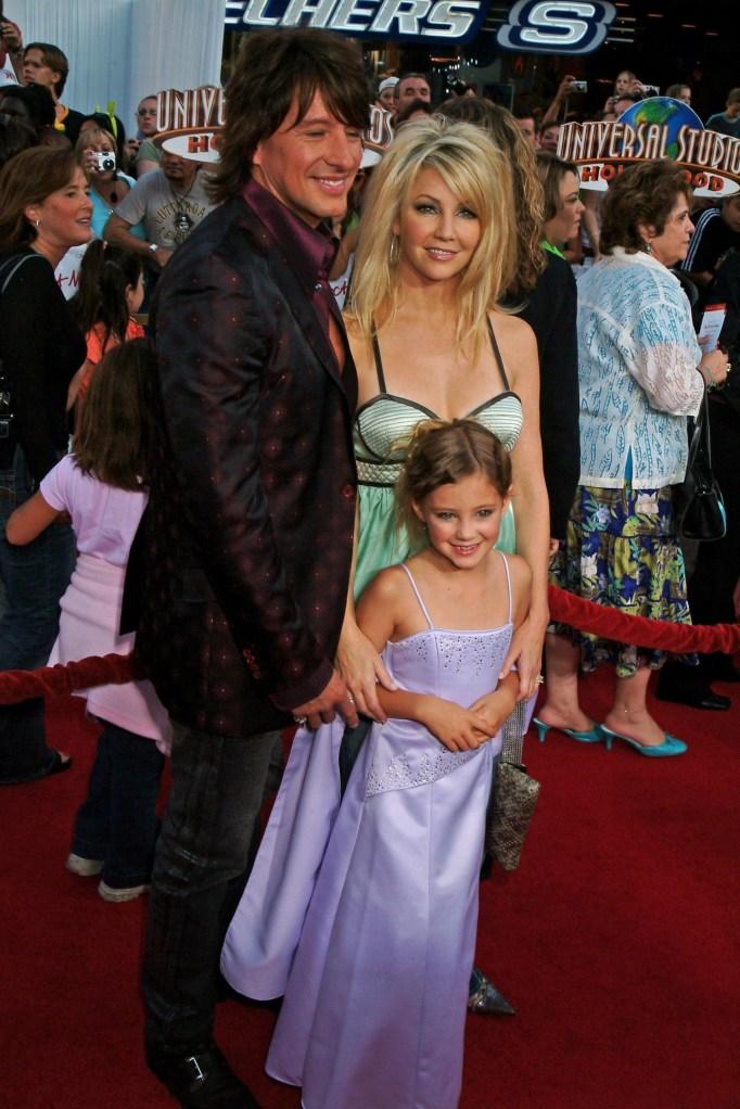 Heather Locklear, Richie Sambora and Ava Sambora