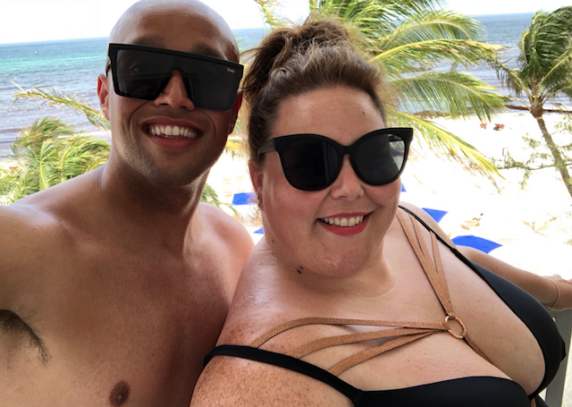 Photo of Chrissy Metz with a friend on vacation