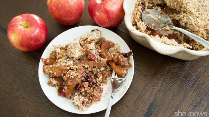 Breakfast or dessert? This gluten-free cran-apple