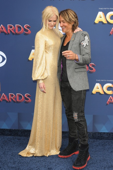 Nicole Kidman and Keith Urban attend the 53rd Academy of Country Music Awards