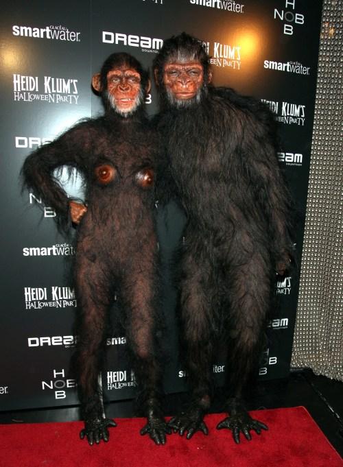 Heidi Klum's Halloween Costume: Apes