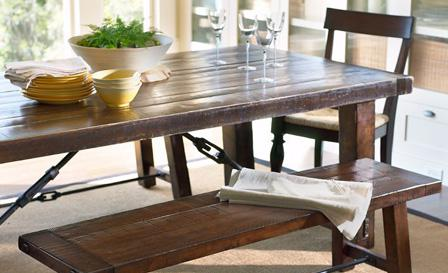 Chic Ways To Use A Picnic Table Indoors, Picnic Table Dining Room