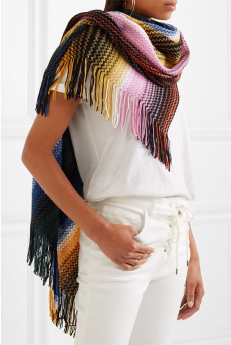 Blanket Scarves to Keep You Cozy This Fall and Winter: Missoni poncho at Net-a-Porter   Fall and Winter Fashion 2017