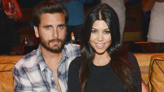 Kourtney Kardashian and Scott Disick through