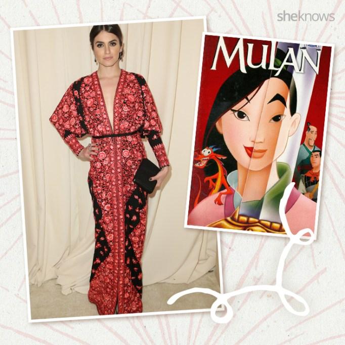 Nikki Reed as Disney princess Mulan