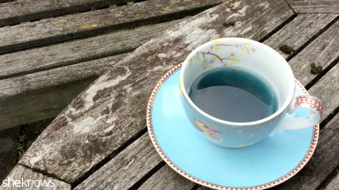 Blue tea: The brightly colored beverage
