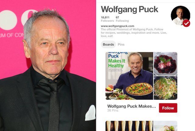 Celebs on Pinterest: Wolfgang Puck