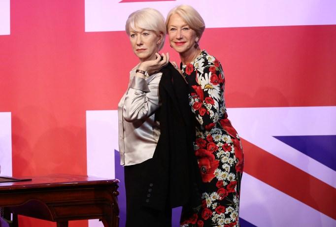 Dame Helen Mirren and her wax figure