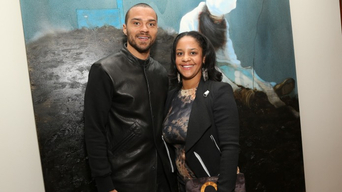 Jesse Williams and Aryn Drakelee-Williams attend