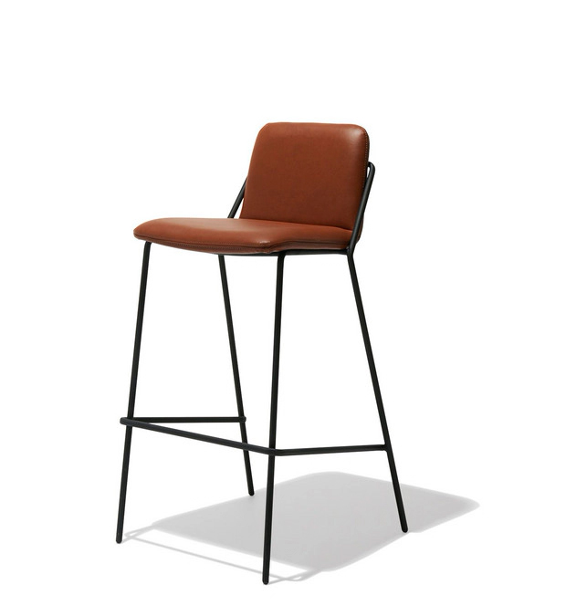 Sling Bar Leather Stool