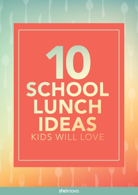 School lunch ideas Pinterest image