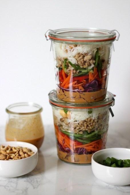 Meal Prep Skinny Spring Roll Jars