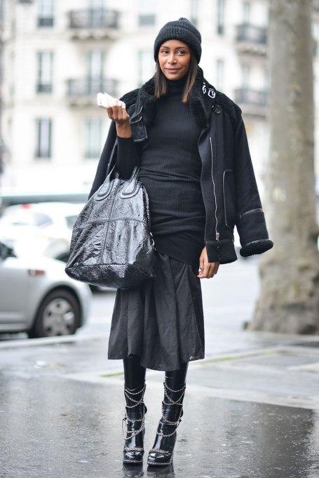 Ways To Wear A Turtleneck | All Black Ensemble