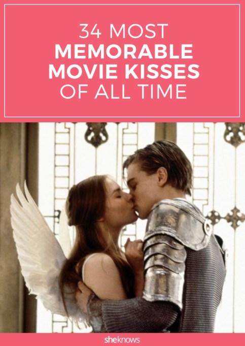 Most memorable movie kisses Pinterest image