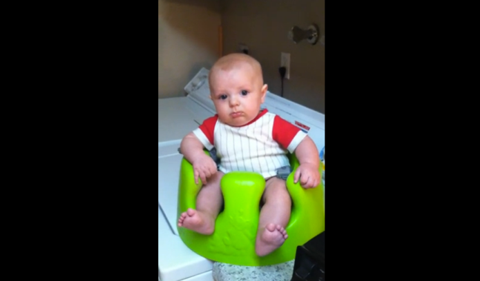 This baby hears a blender and