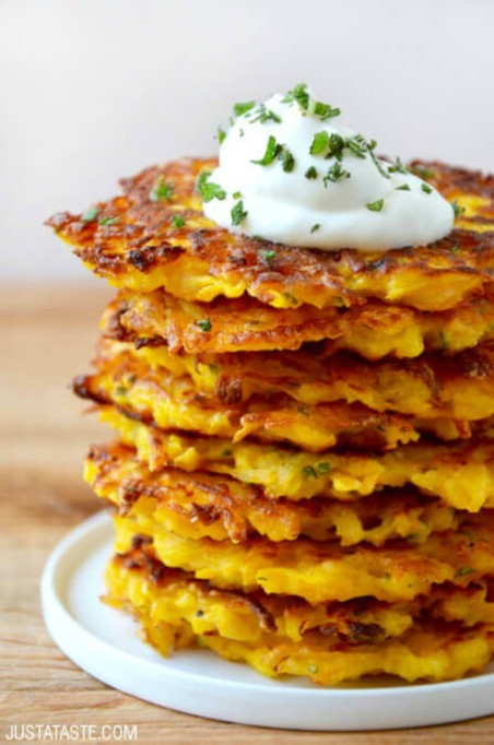 Fall brunch recipes: 5-ingredient butternut squash fritters