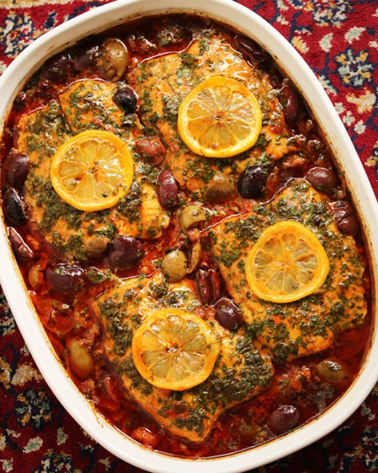 Moroccan fish tagine with ginger saffron recipe