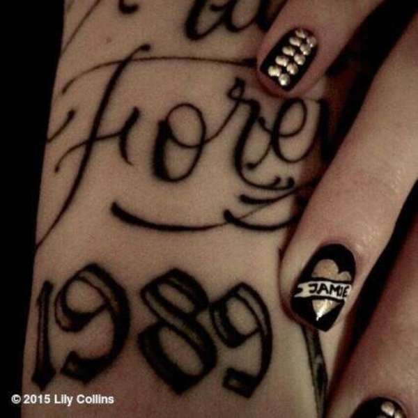 Lily Collins instagram nail Jamie Campbell Bower