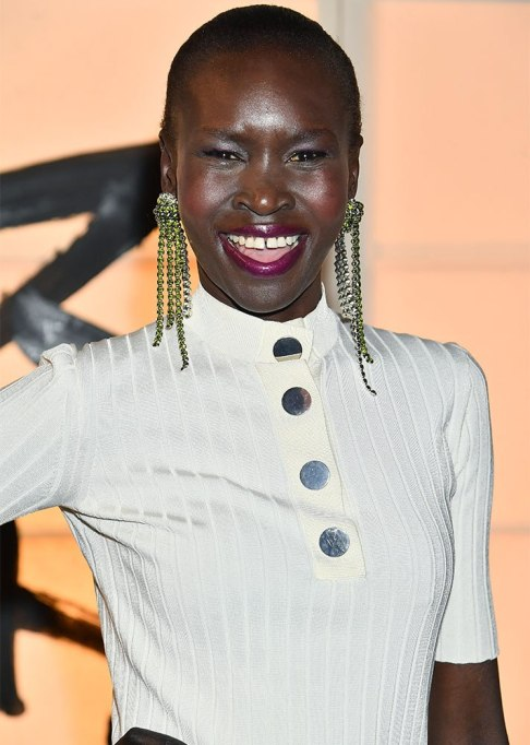 Alek Wek Buzz Cut