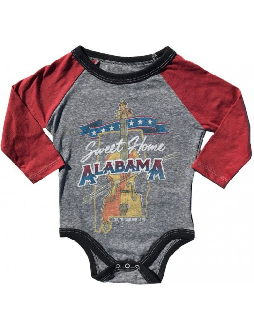 Rowdy Sprout Sweet Home Alabama Baby Onesie