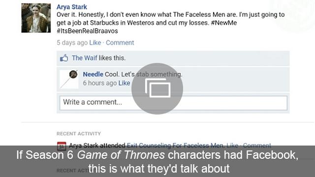 Game of Thrones FB Season 6 slideshow