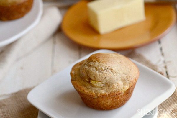 Mango whole-wheat muffins