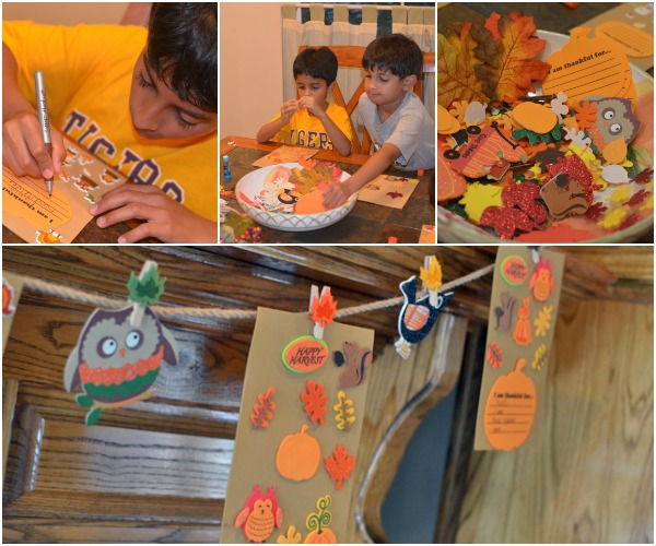 Fall garland craft for homeschoolers