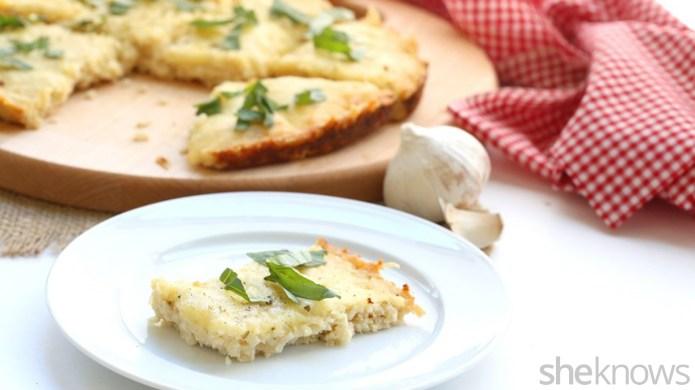 Gluten-free cauliflower garlic bread is a