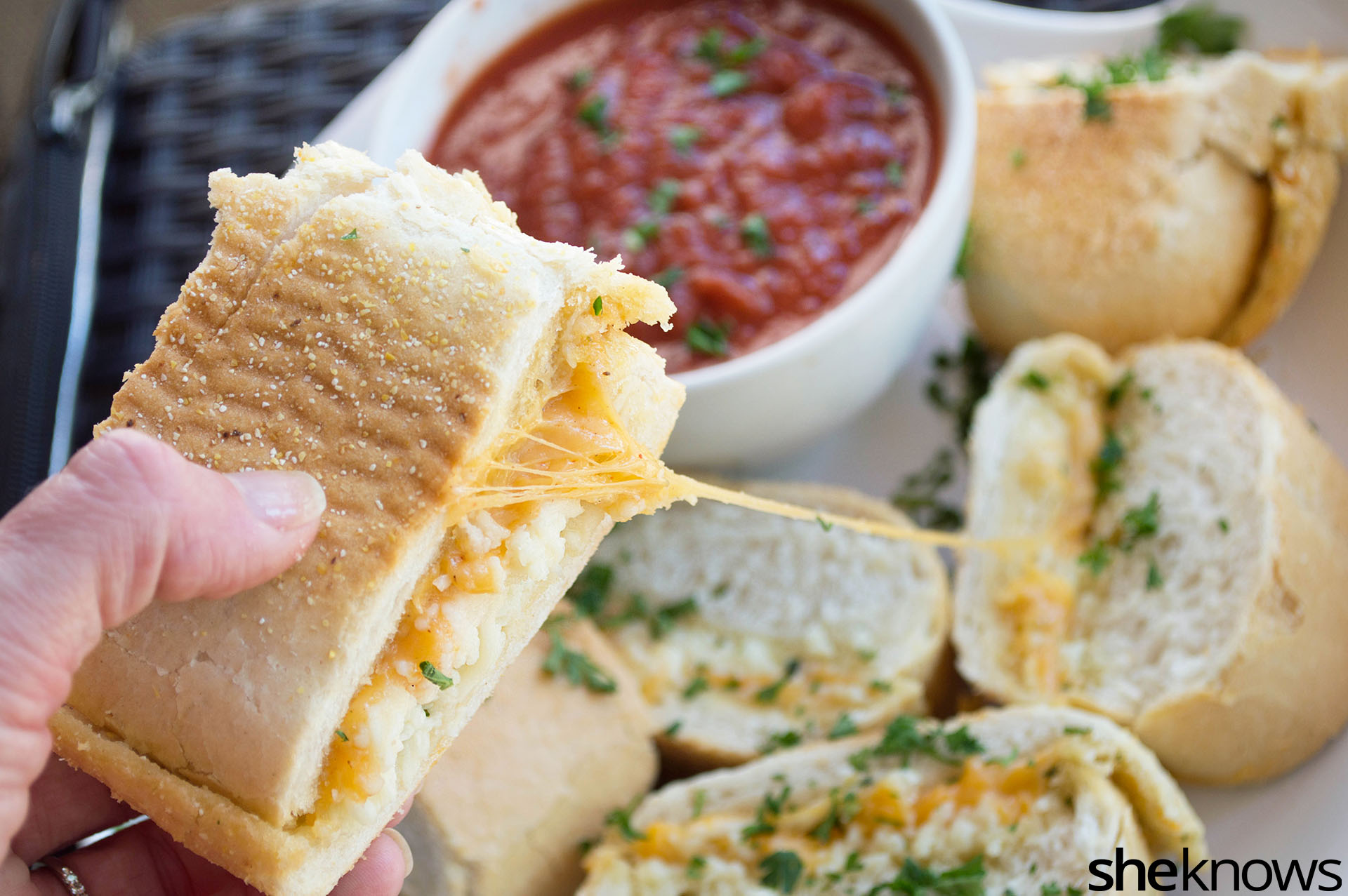 3-Cheese garlic bread sandwiches are the grilled cheese ...