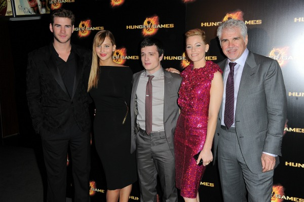 Gary Ros and the cast of The Hunger Games